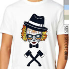 AXE GIRL SUGAR SKULL T-SHIRT. Day Of The Dead, Rock Biker, Emo Goth, Retro Indy