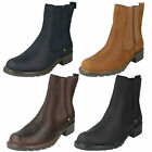 Clarks Orinoco Club Ladies Boots - Brown Snuff or Black Leather - Pull On