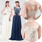 Stock Unique Sexy Lace Women's Formal Party Ball Wedding Long Dress US Size 2~16