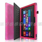 """Black PU Leather Case Cover for Microsoft Windows Surface RT 2 Tablet 10.6"""""""