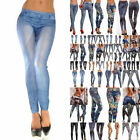 30 Patterns Sexy Tattoo Denim Leggings Jeans Jeggings Stretchy Skinny Pant Tight