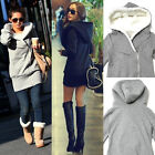 Womens Long Sleeve Winter Hooded Coat Sweater Outwear Front Zipper Tops HOT
