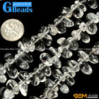 """Natural freeform White Rock Crystal Quartz Jewelry Making Loose Beads 15"""" GBeads"""