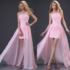 Long Pink Sexy Formal Prom Party Ball Homecoming Gown Women Dress Cocktail Hot