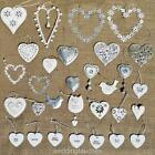 Hanging Hearts Decorations Vintage Style Shabby Chic Wedding Favors Favours Gift
