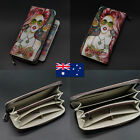 Quality Genuine Leather Ladies Womens Bifold Wallet Purse Zip Coins Card Holder