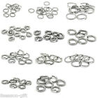 Gift Stainless Steel Open Jump Rings Silver Tone M0995