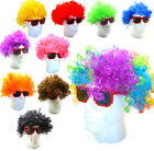 70's COLOURED DISCO FUNKY CURLY AFRO CLOWN WIG FANCY DRESS COSTUME MENS WOMENS