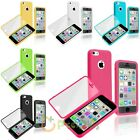 Colorful Flip Book TPU Rubber Gel Soft Case Skin Cover For Apple iPhone 5C