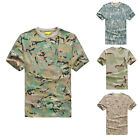 Casual Men's Military Camouflage T-Shirt short-sleeved Crewneck Army Combat New