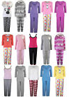 Women's Pyjamas Ladies Sleepsuit Warm Fleece Set Animal Pajamas New Size 8 - 22