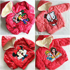 Kids Girls Boy Minnie Mouse Hello Kitty Cute Winter Jacket sz 24 Months 5 years