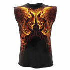 Spiral Direct BURN IN HELL sleeveless t-shirt/top/vest, biker/tattoo/flames/fire