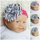 Baby Girls Zebra Daisy Flower Clip Crochet Headband