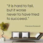 """Tried To Succeed"" Wall Stickers Vinyl Kids Wall Decal Removable Art Decor Home"