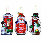 Window Silhouette LED Light Up Christmas Decoration Santa Snowman Postbox 45cm
