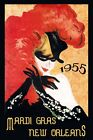 Mardi Gras New Orleans Carnival 1955 Fashion Lady Vintage Poster Repro FREE S/H