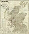 1790 HUGE HISTORICAL MAP OF SCOTLAND  Largest Sizes