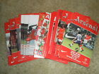 ARSENAL HOME PROGRAMMES IN EUROPEAN COMPETITIONS - CHOOSE FROM LIST
