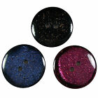 Dark Glitter Round Buttons - Colour and Size Choice