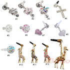 Bling 3.5mm Earphone Anti Dust Plug Stopper for iPhone 4 4S 5 5S 5C Samsung HTC