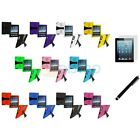 Hybrid Rugged Hard/Soft Case Stand+3X LCD+Stylus Pen for iPad 2nd Gen 4 3 2