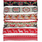 Christmas Xmas Crimbo Tapestry Style Draught Excluder Door Window Draft Cushion