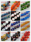 Millefiori Glass Round Beads 12colors-1 6mm/8mm/10mm/12mm/14mm/16mm P101-P158