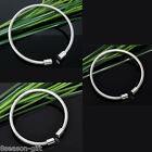 1 PC Stainless Steel Wire Bangle Fit European Bead M1406
