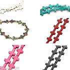 "Semi-precious Gemstone Loose Beads Cross 16mm x 12mm( 5/8""x 4/8"") M1265"