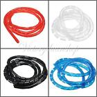 1/2/5/10M Spiral Wire Wrap Tube Manage Cord for PC Computer Home Cable 6-60MM