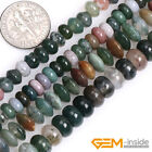 """Natural Indian Agate Rondelle Heishi Spacer Beads For Jewelry Making 15"""" Yao-Bye"""
