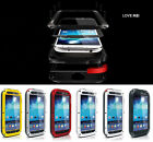 Aluminum Metal Cases Gorilla Glass for Samsung Galaxy S4 i9500 Shock/Water Proof