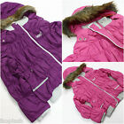 Girls Designer Winter Hooded Coat Girl School Parka Jackets Size 03 4t 5 6 7 8