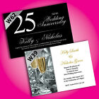 Personalised Wedding Anniversary Invitations 25th 50th *Any Year* Free Draft