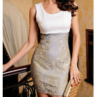 New Fashion Floral Lace Sundress Women's Sleeveless Crewneck Slim Fit Mini Dress