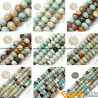 Natural Rondelle Mixed Amazonite Jewelry Making loose gemstone beads strand 15""
