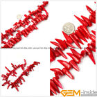 """Natural Stick Branch Red Coral Jewelry Making loose gemstone beads strand 15"""""""