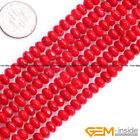 """4x6mm rondelle Faceted Coral Jewelry Making loose gemstone beads strand 15"""""""