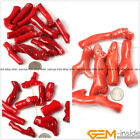 Red Coral Gemstone Branch Beads For Jewelry Making 10 Pcs 30mm 40mm 50mm 60mm