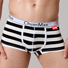 2014 Sexy Men's Comfy Smooth Stripe Underwear Boxer briefs Trunks 3 Size M~XL