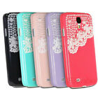 New Style Hand Made Laces Pearls Hard Case Cover for Samsung Galaxy S4 IV i9500