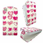 WHIITE CASE WITH PINK HEARTS DESIGN FLIP PU LEATHER CASE FOR IPHONE 5 /5S