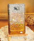 Handmade Swarovski Crystal Cover Case For Samsung Galaxy Note 2/Note 3 Gold