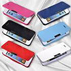 Flip Leather Purse Magnetic Hard Back Case Cover Skin For Apple iPhone 5 5G 5S