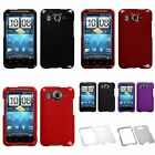 Red/Black/Grape/Clear/Smoke Hard Case Cover Rubber Skin Phone For HTC Inspire 4G