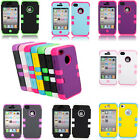 For Apple Iphone 4 4S Protective PC+Silicone Defender Slim Case Armor