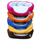 Warm Soft Fleece Puppy Pets Dog Cat Bed House Basket Nest Mat Basket Cushion