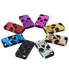 Hot Skull Skeleton Silicone Hybrid Hard Soft Case For iPhone 4 4th 4nd 4S Colors