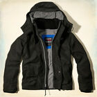 New Hollister by Abercrombie Men's All-Weather Jacket Hoodie Size:S M L XL